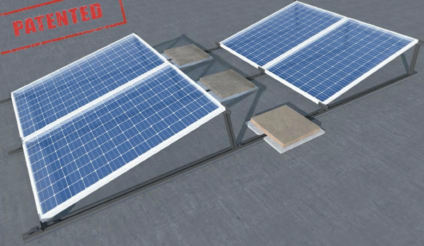 Struttura zavorre kit impianto fotovoltaico