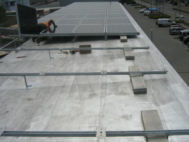 tetti piani impianto fotovoltaico strutture