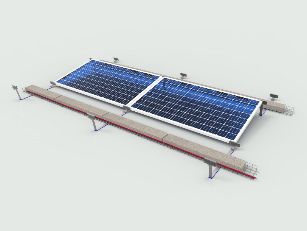 Kit moduli orizzontali impianto fotovoltaico