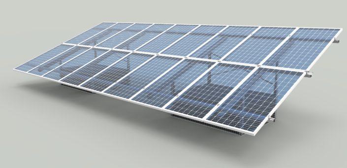 Impianto terra fotovoltaico con gabbie