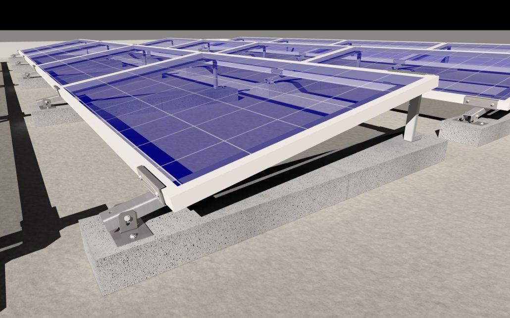 struttura fissaggio pannello fotovoltaico