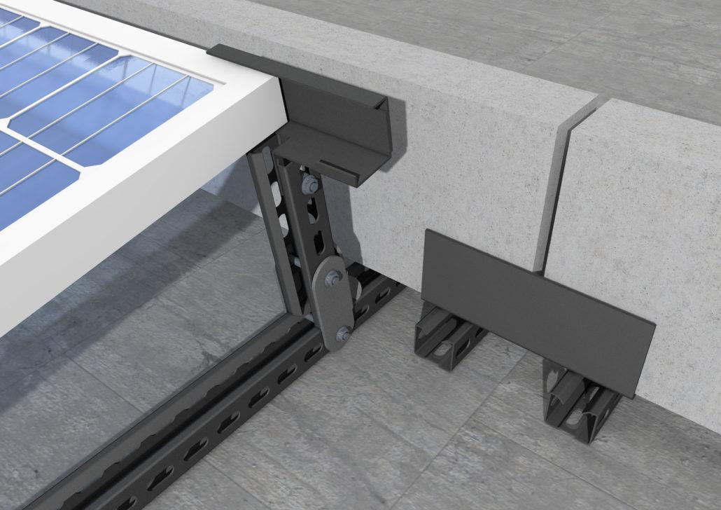 kit particolare struttura impianto fotovoltaico