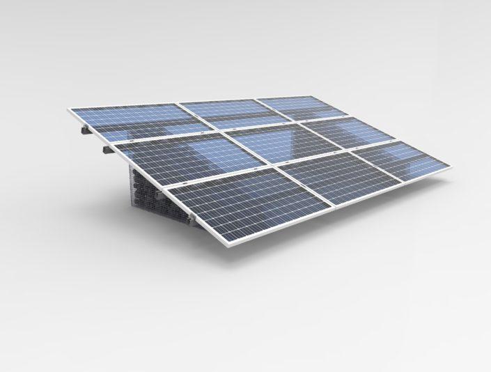 Immagine 9 moduli fotovoltaici con struttura a gabbia