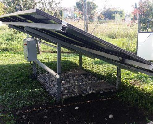 Struttura Pompaggio Acqua Fotovoltaico con driver e gabbia