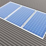 Sistema aggancio moduli fotovoltaici su grecato