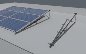 Struttura a vela fotovoltaico