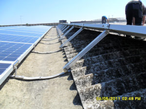 Struttura fotovoltaico su cupolino senza forare trave Y