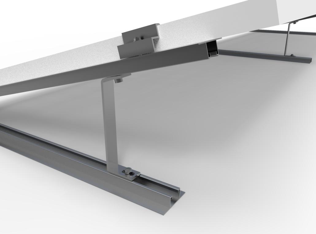 Kit triangoli alluminio montaggio tetti piani
